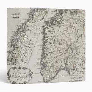 """Mapa antiguo de Noruega Carpeta 1 1/2"""""""