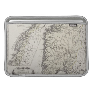 Mapa antiguo de Noruega Funda Para Macbook Air