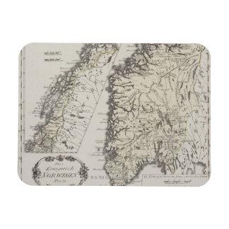 Mapa antiguo de Noruega Iman