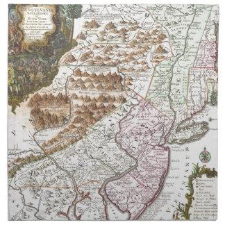 Mapa antiguo de Nueva Inglaterra (1756) .3989x4625 Servilleta