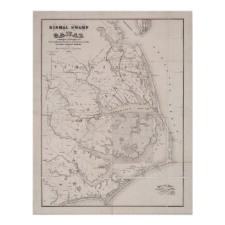Mapa antiguo de Ocracoke Virginia 1867