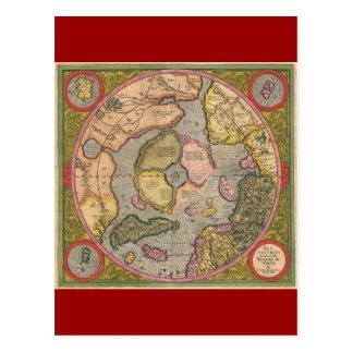 Mapa antiguo de Polo Norte Postal