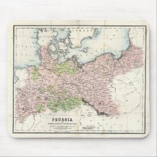 Mapa antiguo de Prusia Alfombrilla De Ratones