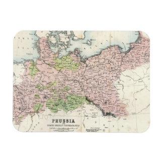 Mapa antiguo de Prusia Imán Flexible