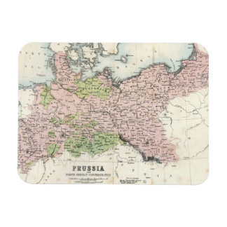 Mapa antiguo de Prusia Iman Flexible