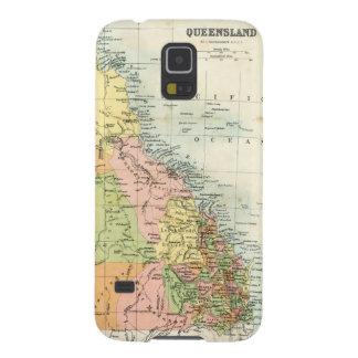 Mapa antiguo de Queensland Australia Carcasas Para Galaxy S5