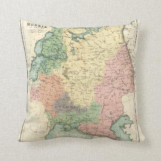 Mapa antiguo de Rusia en Europa Almohada