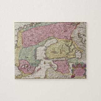 Mapa antiguo de Suecia 2 Puzzle