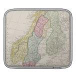 Mapa antiguo de Suecia Funda Para iPads