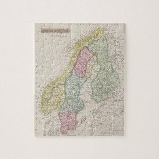 Mapa antiguo de Suecia Puzzle