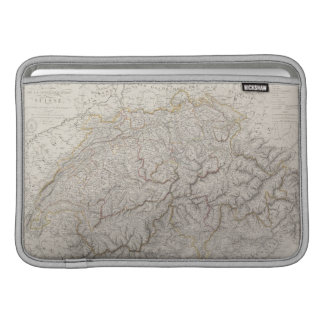 Mapa antiguo de Suiza Funda Macbook Air