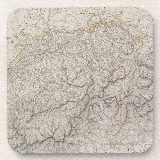 Mapa antiguo de Suiza Posavasos