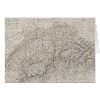 Mapa antiguo de Suiza Felicitacion