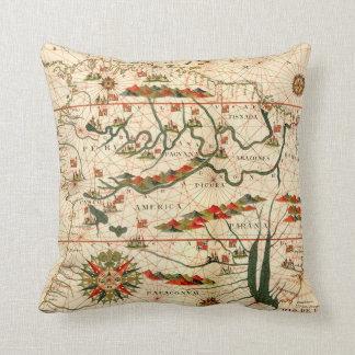Mapa antiguo de Suramérica Almohadas