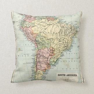 Mapa antiguo de Suramérica Cojines