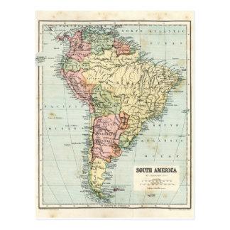 Mapa antiguo de Suramérica Postales