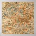 Mapa antiguo del Adirondacks Impresiones