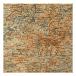 Mapa antiguo del Adirondacks Póster