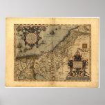 Mapa antiguo del ATLAS 1570 A.D. de Palestina ORTE Posters