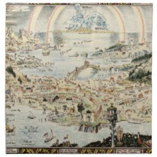 Mapa antiguo del Fairyland por el trineo de