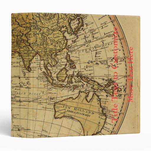 Mapa antiguo del hemisferio del este de Guillermo