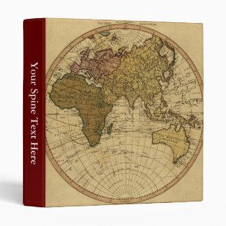 """Mapa antiguo del hemisferio del este de Guillermo Carpeta 1"""""""