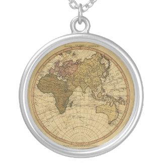 Mapa antiguo del hemisferio del este de Guillermo Colgante Redondo