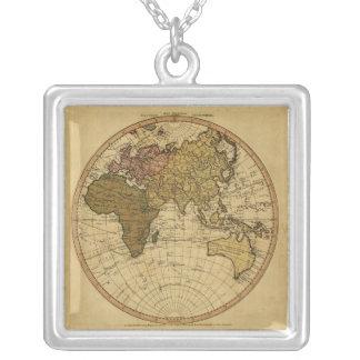 Mapa antiguo del hemisferio del este de Guillermo Colgante Cuadrado