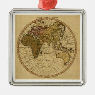 Mapa antiguo del hemisferio del este de Guillermo Ornamento Para Reyes Magos