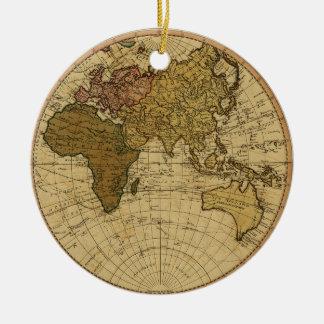 Mapa antiguo del hemisferio del este de Guillermo Ornamentos De Reyes Magos