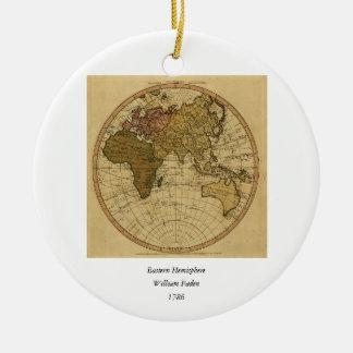 Mapa antiguo del hemisferio del este de Guillermo Ornato