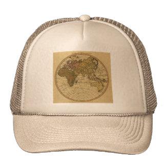 Mapa antiguo del hemisferio del este de Guillermo  Gorros