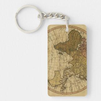 Mapa antiguo del hemisferio del este de Guillermo Llavero Rectangular Acrílico A Doble Cara