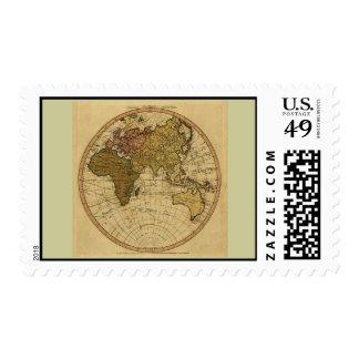 Mapa antiguo del hemisferio del este de Guillermo Envio
