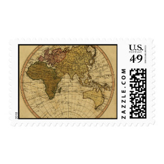 Mapa antiguo del hemisferio del este de Guillermo Sellos