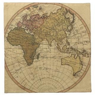 Mapa antiguo del hemisferio del este de Guillermo  Servilletas De Papel