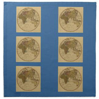 Mapa antiguo del hemisferio del este de Guillermo  Servilleta De Papel