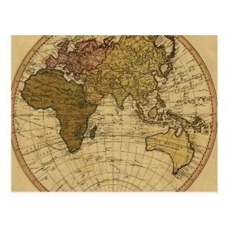 Mapa antiguo del hemisferio del este de Guillermo Postales