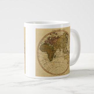 Mapa antiguo del hemisferio del este de Guillermo Taza Grande