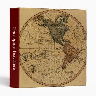 """Mapa antiguo del hemisferio occidental de carpeta 1"""""""