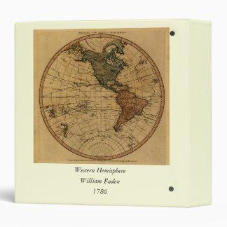 """Mapa antiguo del hemisferio occidental de carpeta 1 1/2"""""""