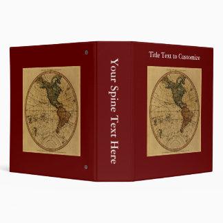 """Mapa antiguo del hemisferio occidental de carpeta 2"""""""