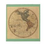 Mapa antiguo del hemisferio occidental de Guillerm Bloc De Papel