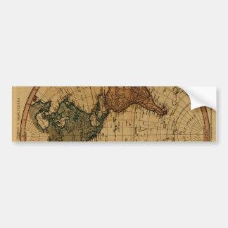 Mapa antiguo del hemisferio occidental de Guillerm Pegatina Para Auto