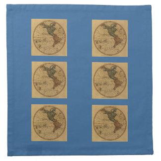 Mapa antiguo del hemisferio occidental de Guillerm Servilleta