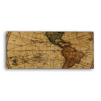 Mapa antiguo del hemisferio occidental de Guillerm
