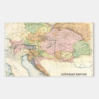 Mapa antiguo del imperio austríaco rectangular pegatina