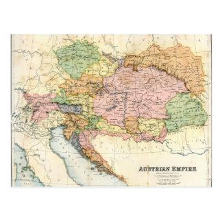 Mapa antiguo del imperio austríaco postal