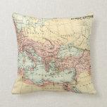 Mapa antiguo del imperio romano almohada