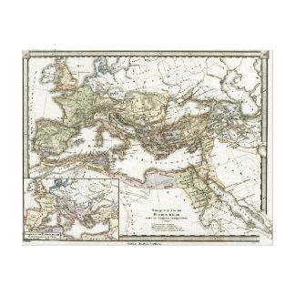 Mapa antiguo del imperio romano impresion de lienzo